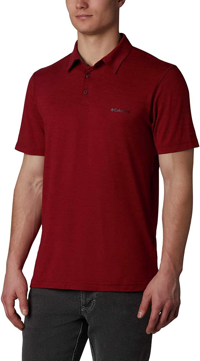 Columbia Men's Tech Trail Polo Shirt, Sun Protection, Moisture Wicking