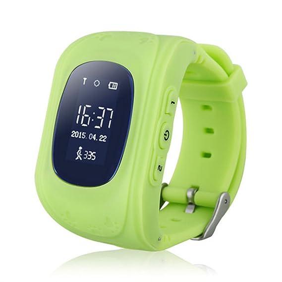 Q50 GPS GSM GPRS Smart Watch para niños inteligente localizador rastreador antipérdida control remoto reloj inteligente, verde: Amazon.es: Iluminación