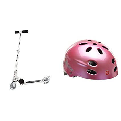Amazon.com: Razor A3 Kick Scooter (capa) con casco rosa ...