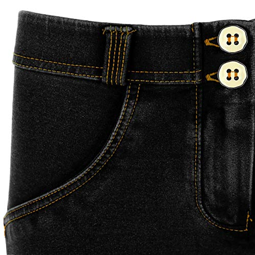 8 cuciture Vita Denim Freddy Effetto Gialle Pantalone Superskinny Wr Nero Regular up Jersey In Scuro 7 Jeans ppfqIC