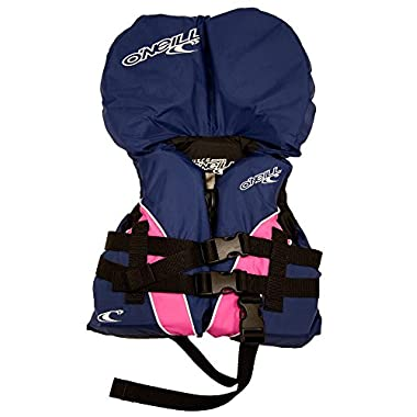 O'Neill USCG nylon infant life vest (up to 30 lbs) Navy/pink/navy