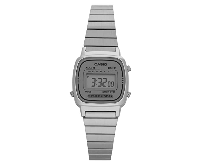 Amazon.com: Casio LA670WA-7 reloj digital retro plateado ...