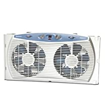 Holmes HAWF3095-U Dual Blade Twin Window Fan with Accutemp Plus