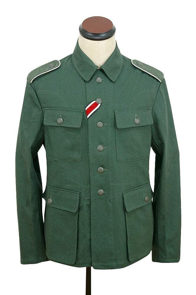 WWII German M43 heer Summer HBT Reed Green Field Tunic