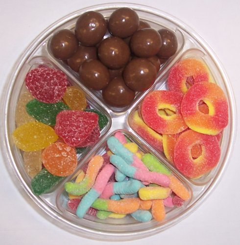 Scott's Cakes 4-Pack Sour Inch Worms, Pectin Fruit Gels, Peach Rings, & Chocolate Malt Balls by Scott's Cakes