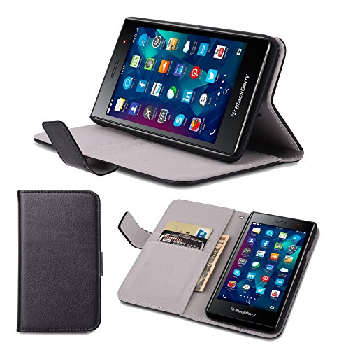 Supremery Case Blackberry Leap Hülle Tasche [BLACK] Case für Blackberry Leap Cover