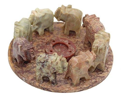 Govinda - Elephant Circle Incense and Cone Burner - 4 Inch Diameter