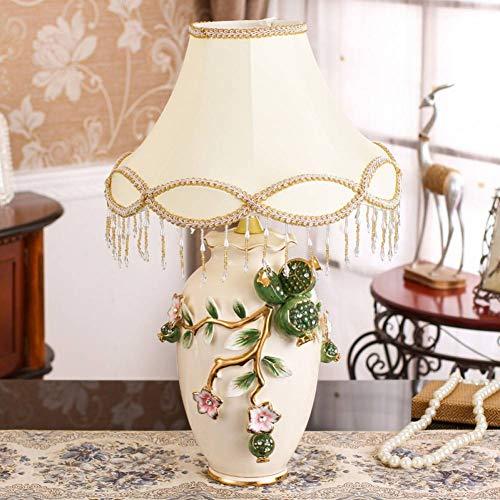 JFHGNJ lampara de mesa Lampara de mesita de noche de ceramica de arte moderno Sala de estar creativa Lampara de mesa de granada y fruta de granada