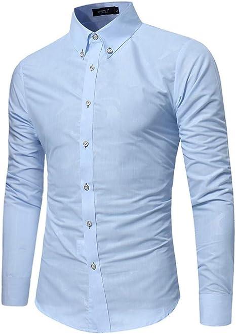 CHENS Camisa/Casual/Unisex/XXL Camisa de Verano Hombres Tallas Grandes Botón Casual Turndown Collar Slim Fit Camisa de Manga Larga Blusa Blanca Ropa Koszula: Amazon.es: Deportes y aire libre