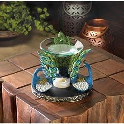 PEACOCK PLUME OIL WARMER Aromatherapy Fragrance Diffuser Home Decor Figurine NEW