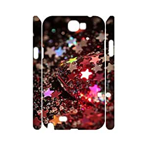 Custom Cover Case with Hard Shell Protection for Samsung Galaxy Note 2 N7100 3D case with Brilliant stars lxa#465257