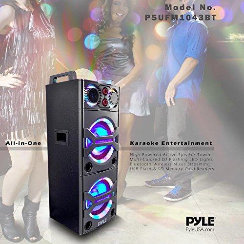 Pyle PSUFM1043BT Bluetooth PA Loudspeaker Karaoke Entertainment System, Wireless Mic by Pyle (Image #4)