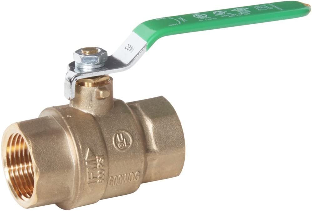 Midwest Control TWB-100 1 FPT 3-Way Ball Valve with L Flow Pattern 600 Psi Cwp Midwest-Control