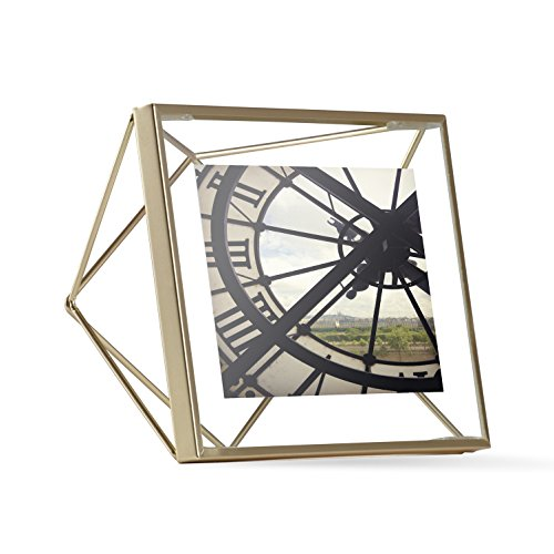Umbra Prisma Picture Frame, 4 by 4-Inch, Matte - Gold Frame Square