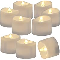 Battery Operated LED Tealights, Pack of 24, Flameless Tea Lights with Warm White Light, Electric Candles Realistic for…