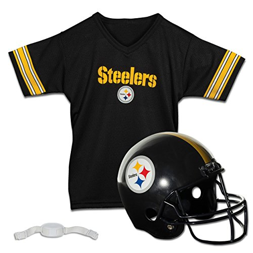 Franklin Sports NFL Pittsburgh Steelers Replica Youth Helmet and Jersey Set -