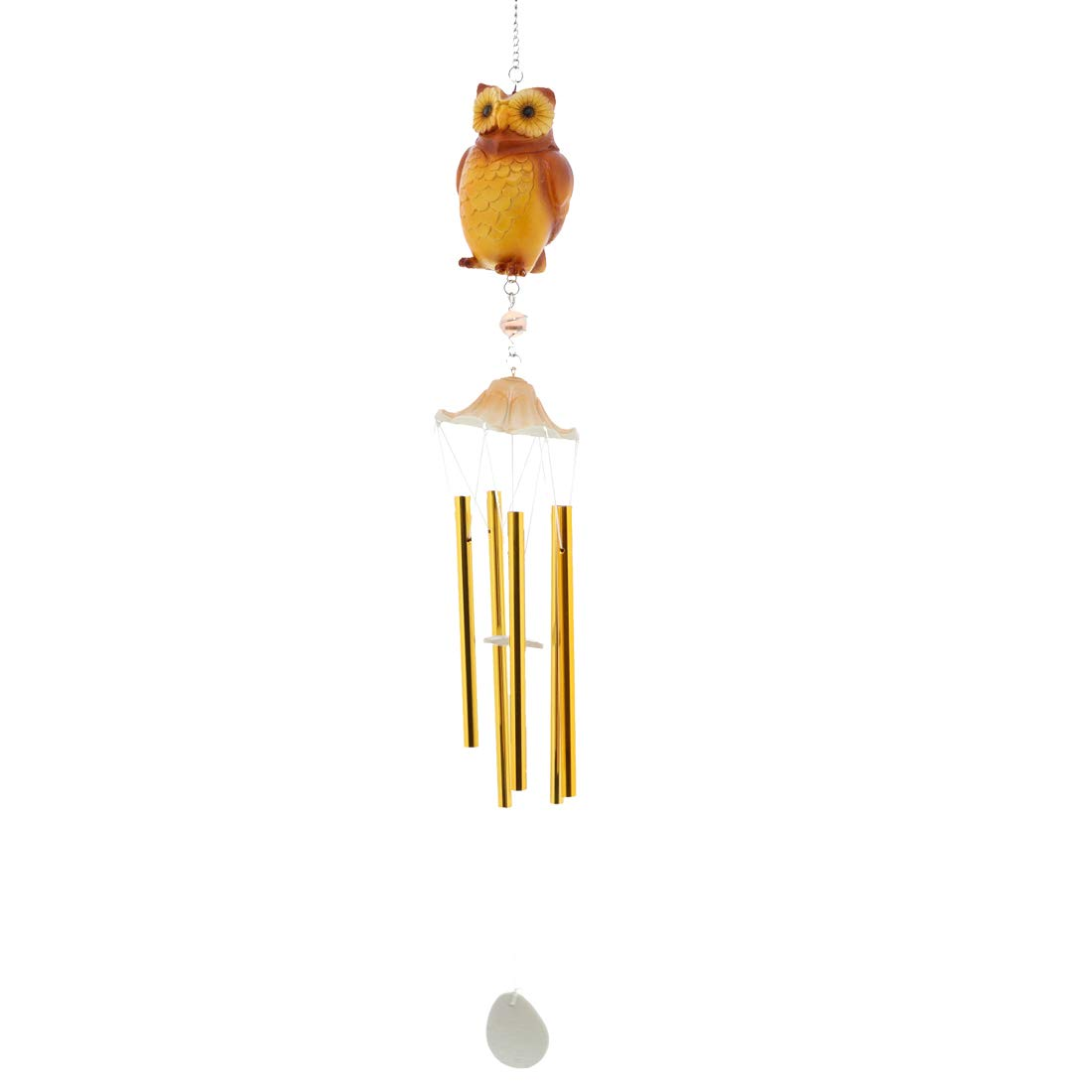 SandT Collection Patio, Balcony, Garden, Great Gift, Brown Owl Resin Wind Chime - Brown Owl