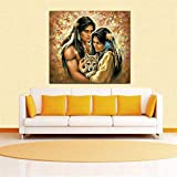 BFY Modern Huge Wall Art Oil Painting On Canvas Native Couples Unframed Room Decor