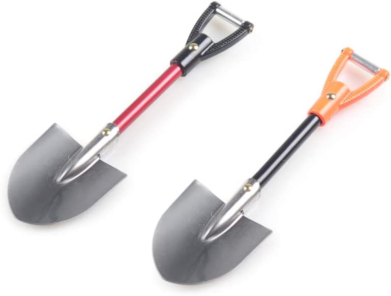 BEESCLOVER RC Car 1:10 Scale Accessories Metal Shovel for 1//10 RC Crawler Axial SCX10 Traxxas TRX4 D90 D110 TF2 Tamiya CC01 Simulation Toys Black Orange