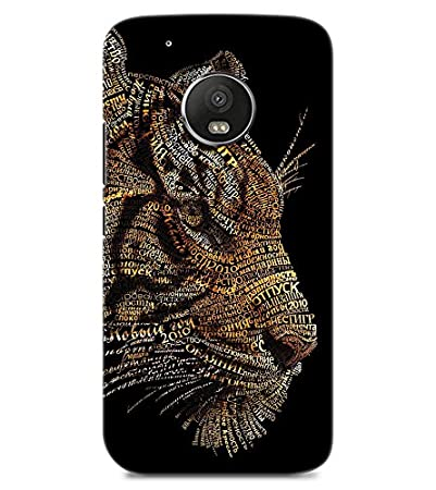Chiraiyaa Designer Printed Premium Back Cover Case for MOTO G5 PLUS  tiger typography   Multicolor  Mobile Accessories
