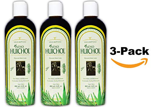Shampoo del Indio Huichol | Hair Loss and Dandruff Treatment Shampoo for Strengthening Abundant Hair Growth and the Prevention of Dandruff; 14 Fl Oz | 3 PACK (Dandruff Best Shampoo India)