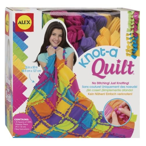 ALEX Toys Craft Knot A Quilt Kit, Free Shipping, New by Unbranded*