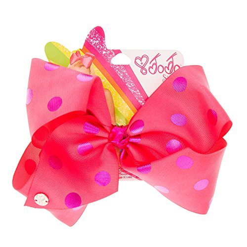 Claire's Girl's JoJo Siwa Large Pink & Purple Polka Dot Hair Bow