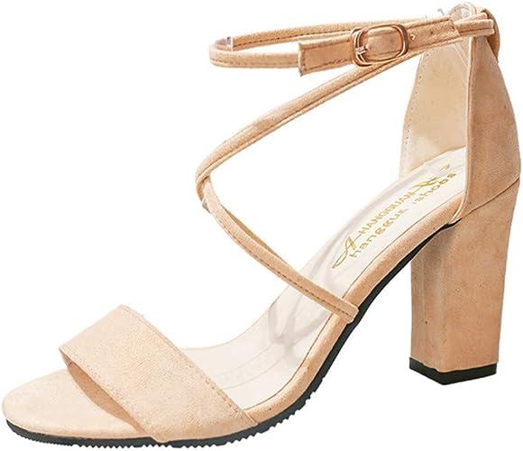 Chaussures à Talon Femme Talon Haut Sandales à Été De Carré n0ONwy8mv