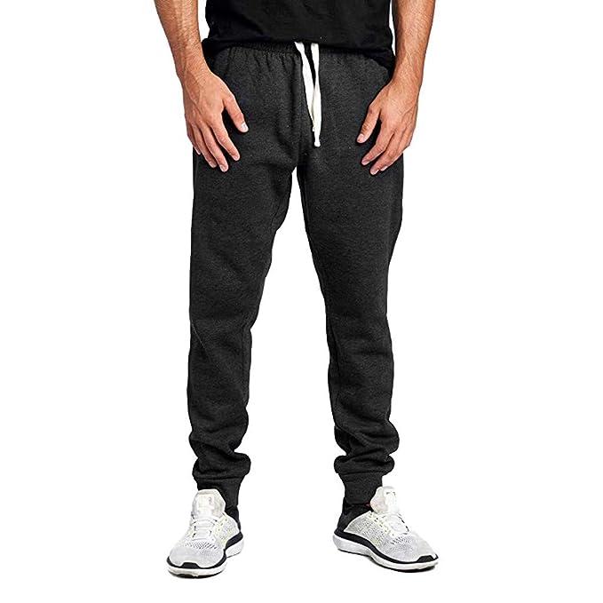 Amazon.com: Yoga Pants Men Jogger Sweatpants Basic Elastic ...