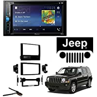 Pioneer AVH-200EX 2-Din 6.2 DVD/CD/iPhone/Android/Bluetooth Metra 95-6534B Chyrsler Conversion Kit Select 2007-08 Dodge/ Jeep Vehicles W/ Antenna Adapter