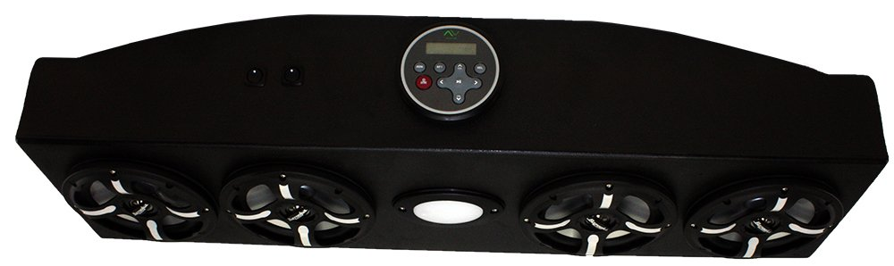 Froghead Industries CCDS304LB Four Speaker Bluetooth AM/FM Stereo System With LED Light Bar And RGB LED Speakers