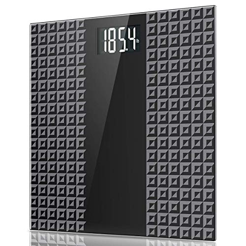 Digital Body Weight Bathroom Scale - Large Backlit Display with 8 Seconds Consistent Accurate Reading, Non-Slip Matte Wide Platform, 400 Pounds, Black
