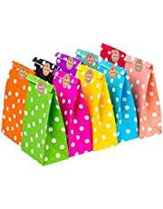 CozofLuv 50 Pack Paper Bags Party Supplies Bags Gift Bag Wedding Favor Bags Birthday Bags for Party Celebrations| Food Container (#11)