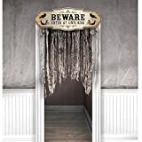 Amscan Dreadful Boneyard Halloween Party Beware Door Curtain Decoration (Small Image)