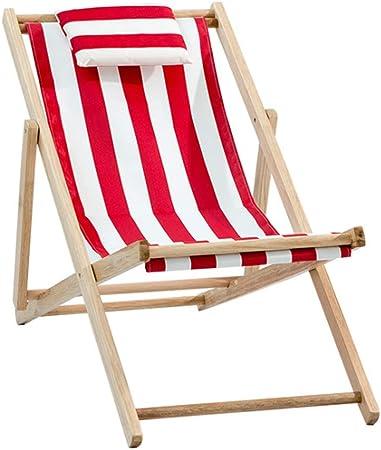 Zcyg Transats Chaise de Plate Forme en Bois Tissu Chaises