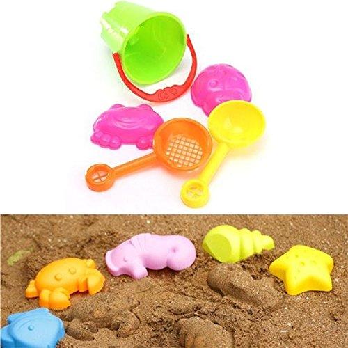 Bazaar 5pcs Mini Sommer Ocean Sand Beach Kids Toys Seaside Castle Swim Eimer Spade Schaufel Rechen Wasserwerkzeuge