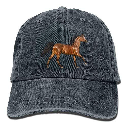 large-scale 3D Horse Denim Hat Adjustable Unisex Tactical Baseball Caps NavyOne Size