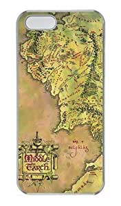 Middle Earth Map for For SamSung Galaxy S5 Phone Case Cover PC Transparent