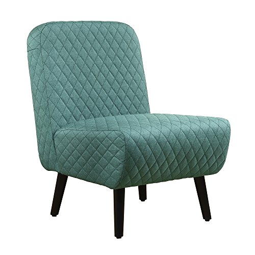 LSSBOUGHT Modern Muted Fabric Armless Chair Stylish Accent Chair (Green)