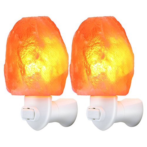 Simplism Crystal - Salt Lamp Mini Crystal Salt Light Night lamps bed lamp Bulb Himalayan Natural-shaped with Plugs for Lighting and Decoration - By Eyscar