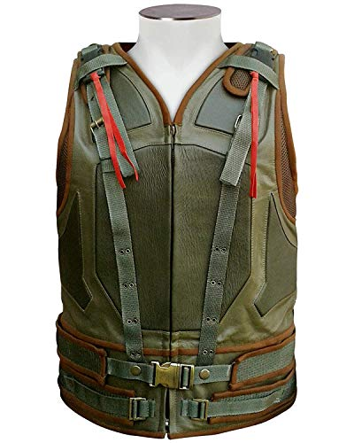 Cup Of Fashion Superhero Halloween Costume Vest - Men Cosplay Leather Merchandise (Large, Green - Tactical Leather Vest) -