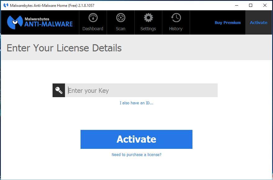 malwarebytes free product key