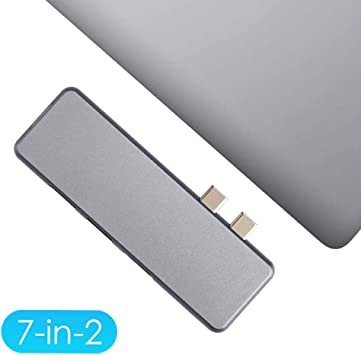 4K HDMI Maxee USB C Hub Adapter Dongle for MacBook Pro 2019//2018-2016/&MacBook Air 2018 7-in-2 Aluminum USB Type-C Hub Docking Station with Thunderbolt 3 2 USB 3.0,TF//SD Card Reader Type C Port