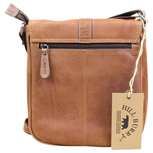 HILL BURRY Damen Schultertasche Beuteltasche Shopper Bag Leder