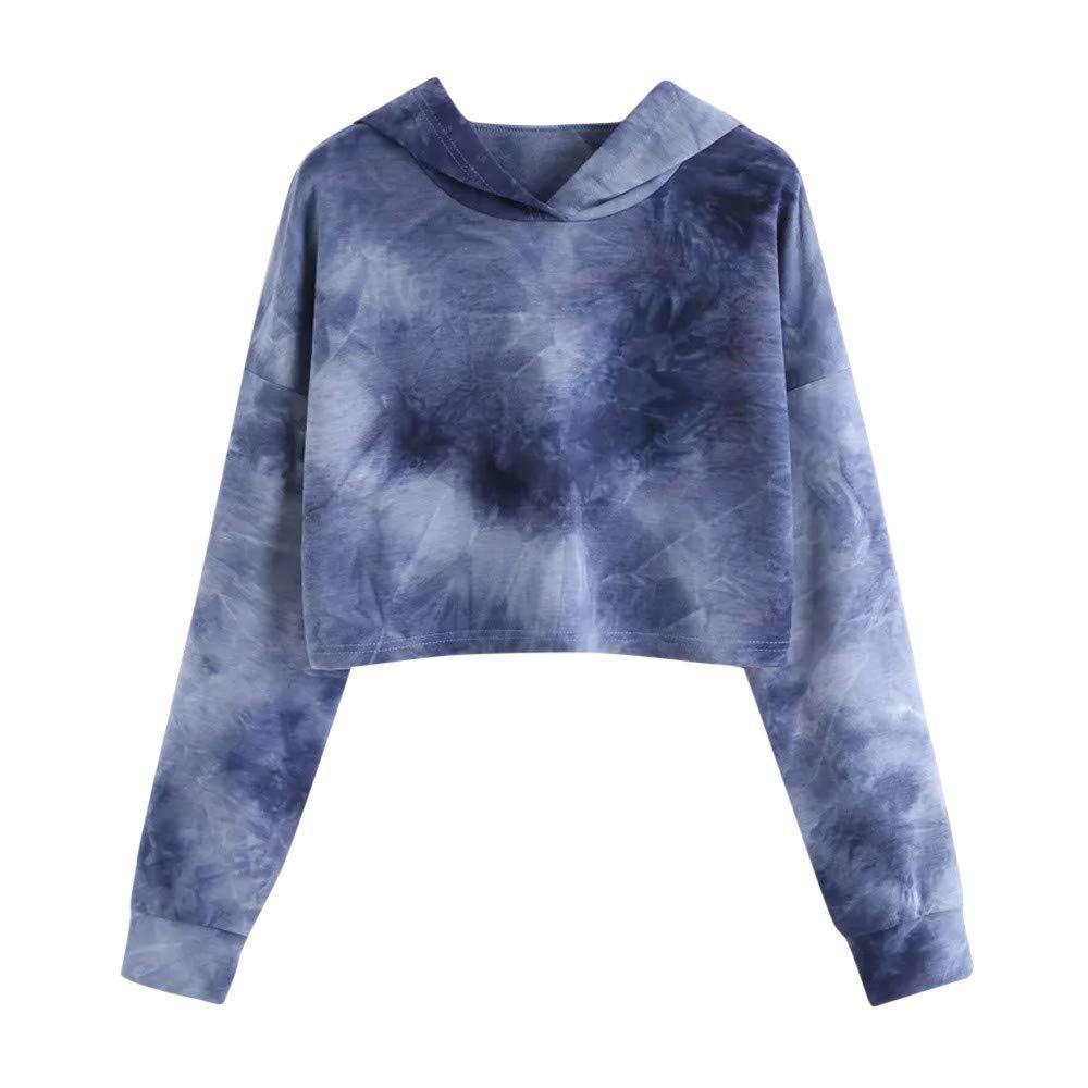 Eduavar Womens Blouse Tops Women Tops Women's Hoodie Printed Patchwork Sweatshirt Long Sleeve Pullover Blouse for Women