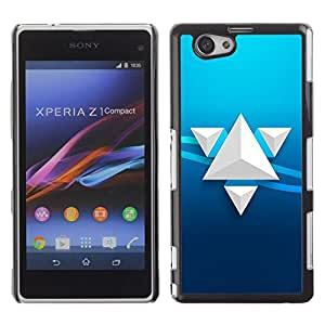 LECELL -- Funda protectora / Cubierta / Piel For Sony Xperia Z1 Compact D5503 -- Triangle Art --