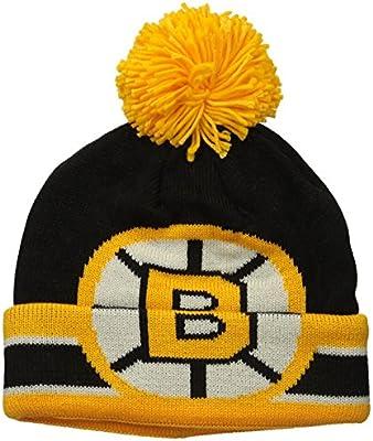 29a6dd2e303 Amazon.com   NHL Boston Bruins Men s CCM Cuffed Pom Knit Cap