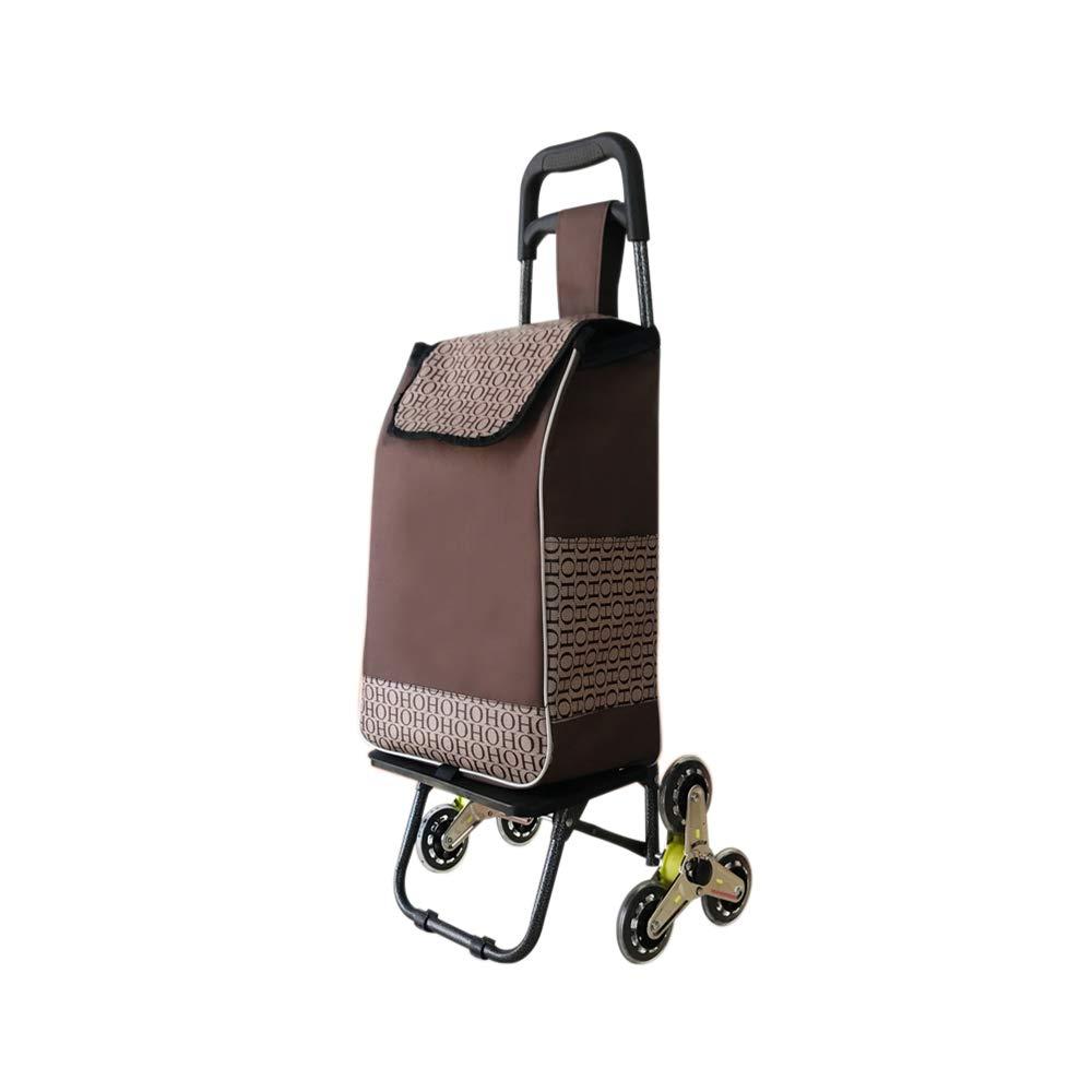 TK® ショッピングトロリー折り畳み式の購入の食糧トロリー車は階段を上ります (色 : E) B07MC3S8BB