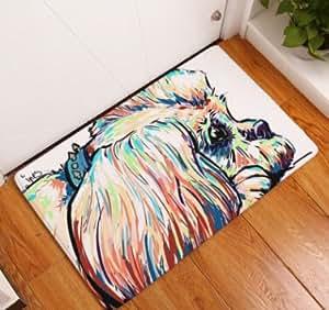 Gatos Dormir naranja puerta Home alfombrilla de baño para baño Dormitorio sala de estar alfombra 50x 120cm