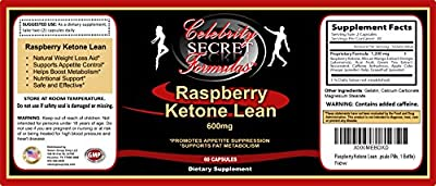 Raspberry Ketone Lean Pure Extract 600mg Natural Weight Loss Supplement (60 Slimming Capsule Pills, 1 Bottle)